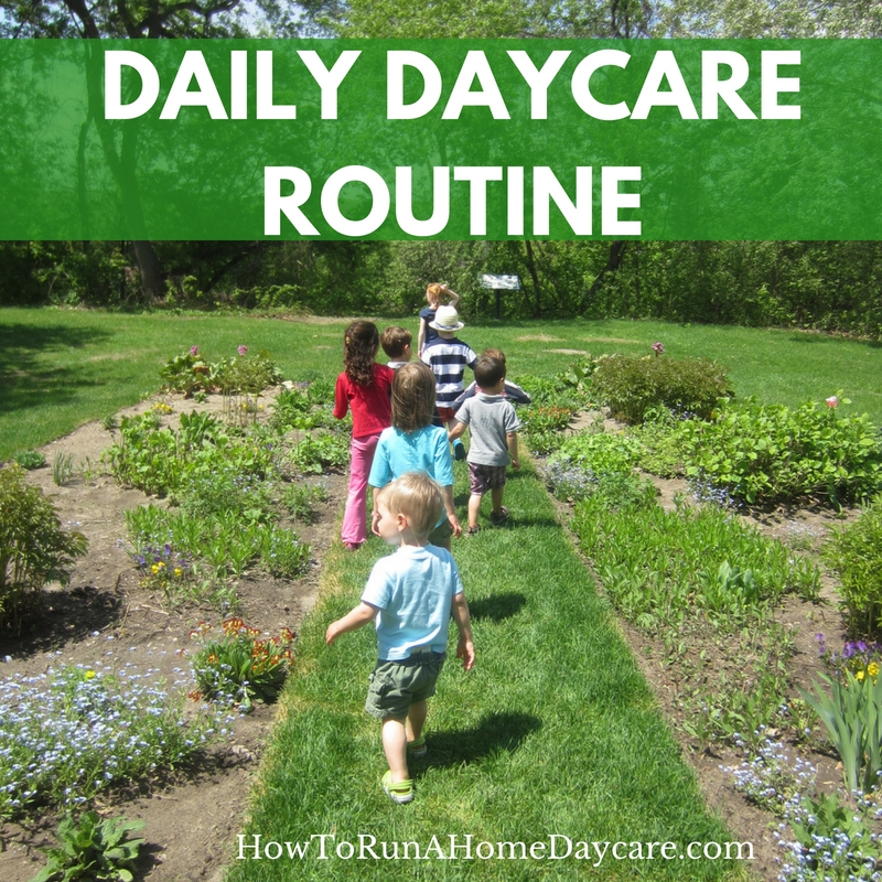 daily daycare routine