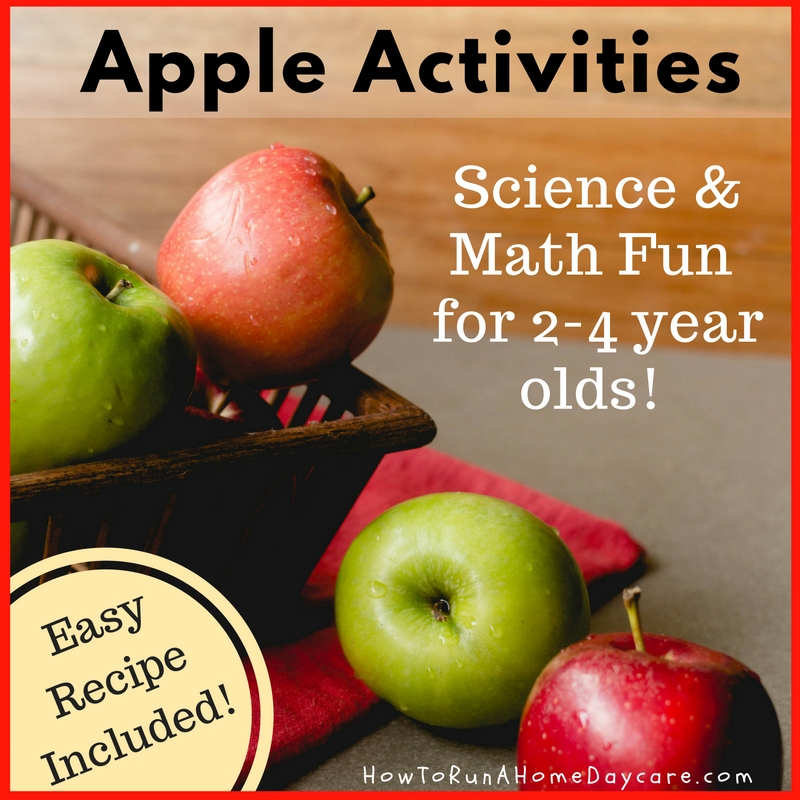 Apple Activities- Science and Math Fun for 2-4 year olds! Easy ...