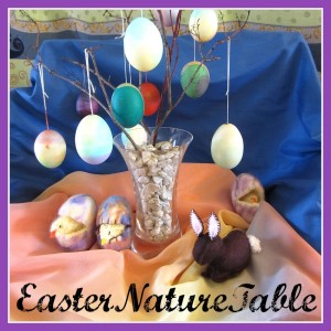 Easter Egg Nature Table