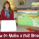 How To Make A Felt (Flannel) Board- Video