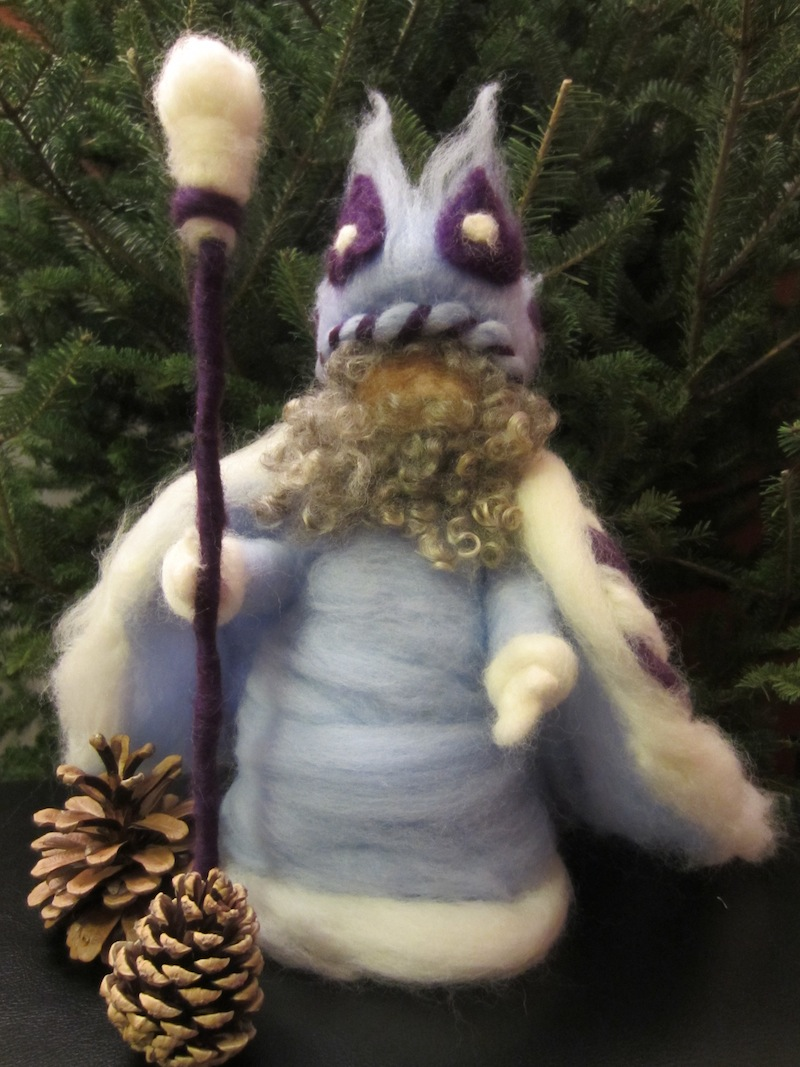 king winter needle felted waldorf doll