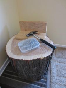 hammering nails stump