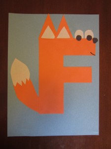 Craft For Letter F Craft ideas