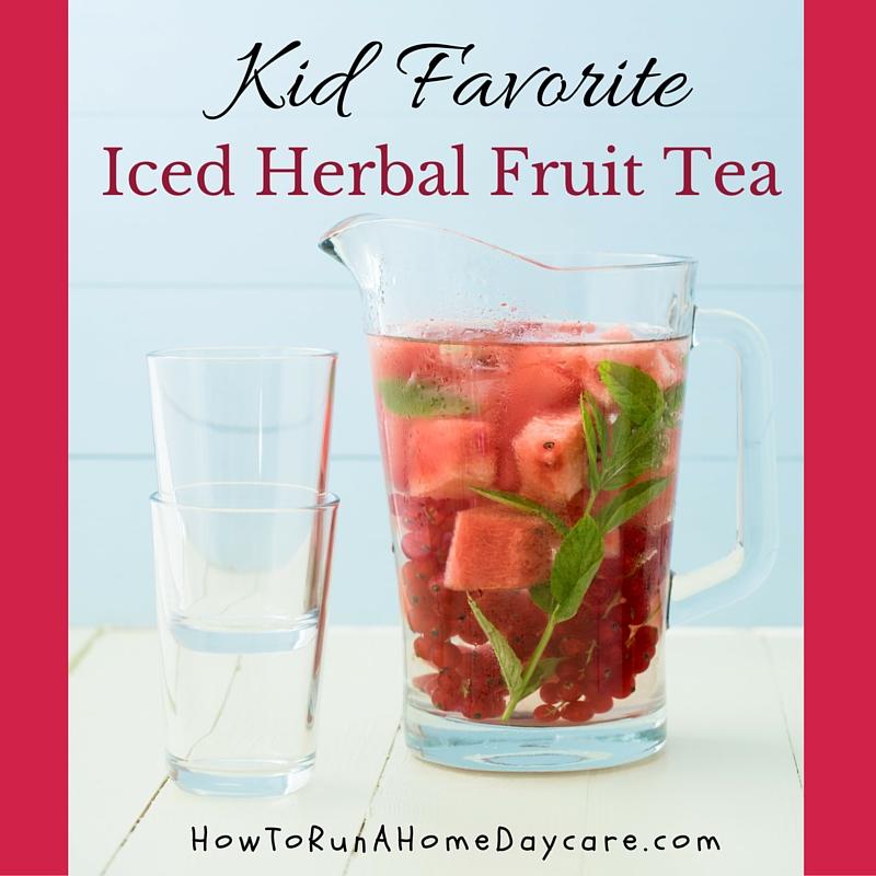 Iced herbal fruit tea