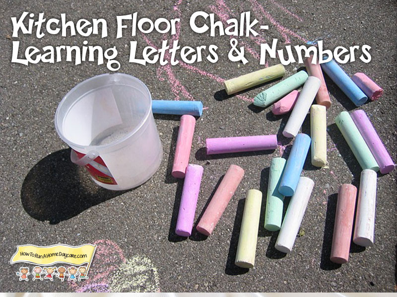 Kitchen-floor-chalk-learning-letters