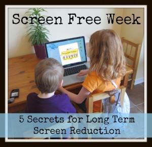 Screen Free Week 5 secrets