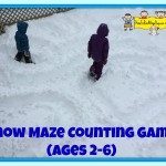 Snow maze counting game