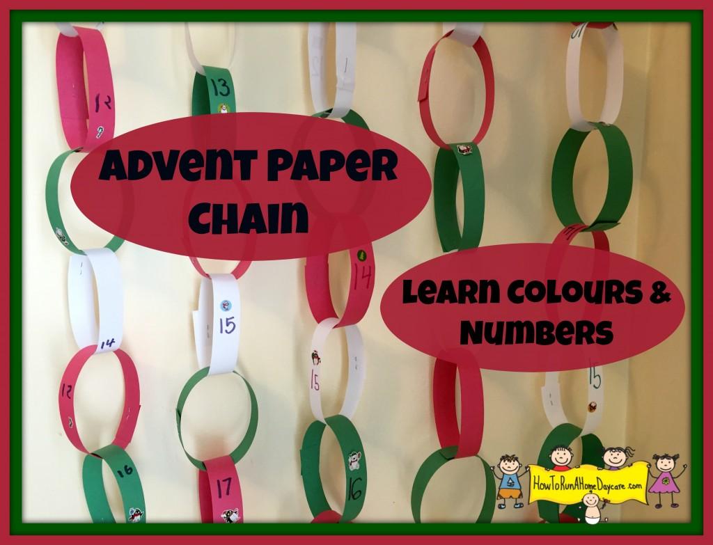 advent paper chain