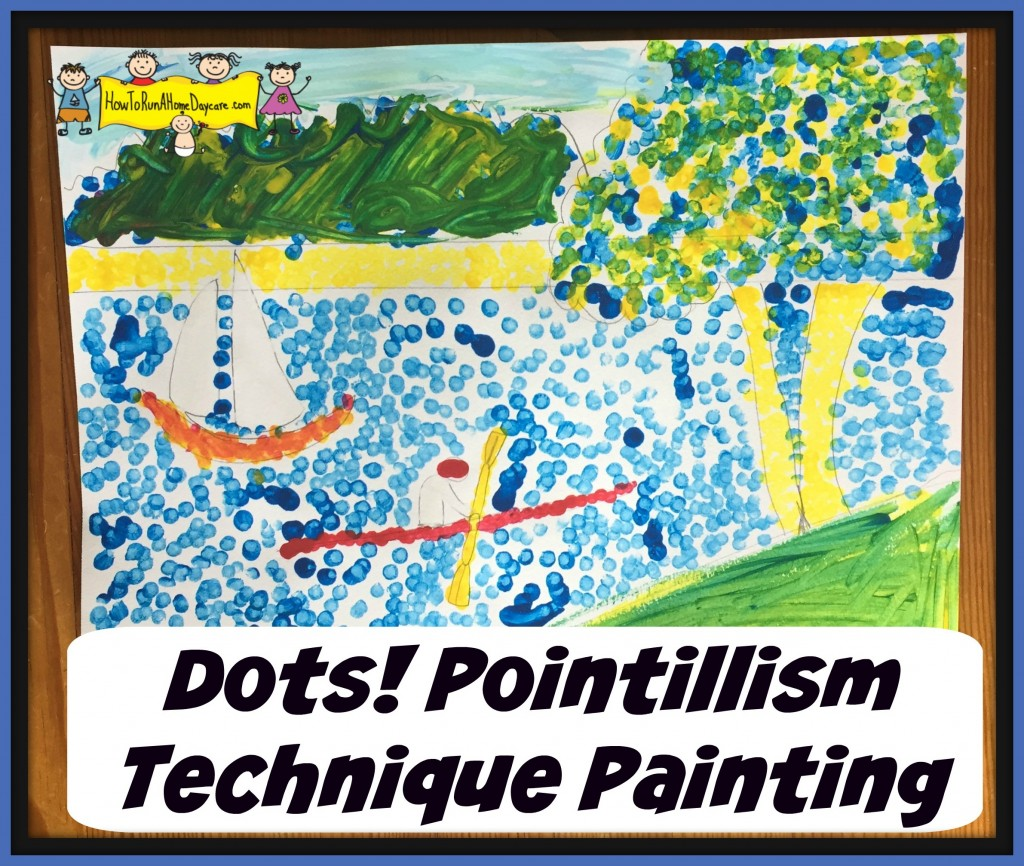 dots! pointillism painting