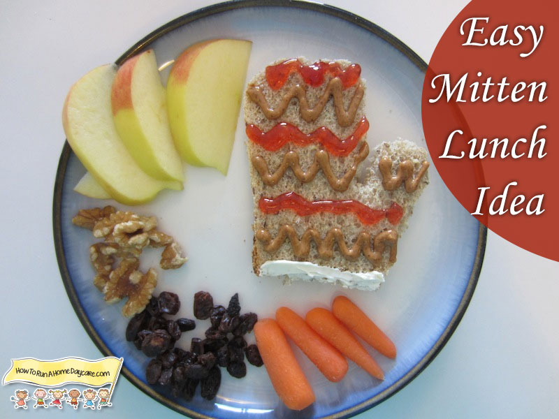 Mitten Shaped Sandwich Idea How To Run A Home Daycare