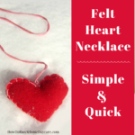 Valentine's Day Felt Heart Necklace