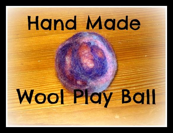 hand made wool play ball2