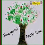 Handprint Apple Tree Painting