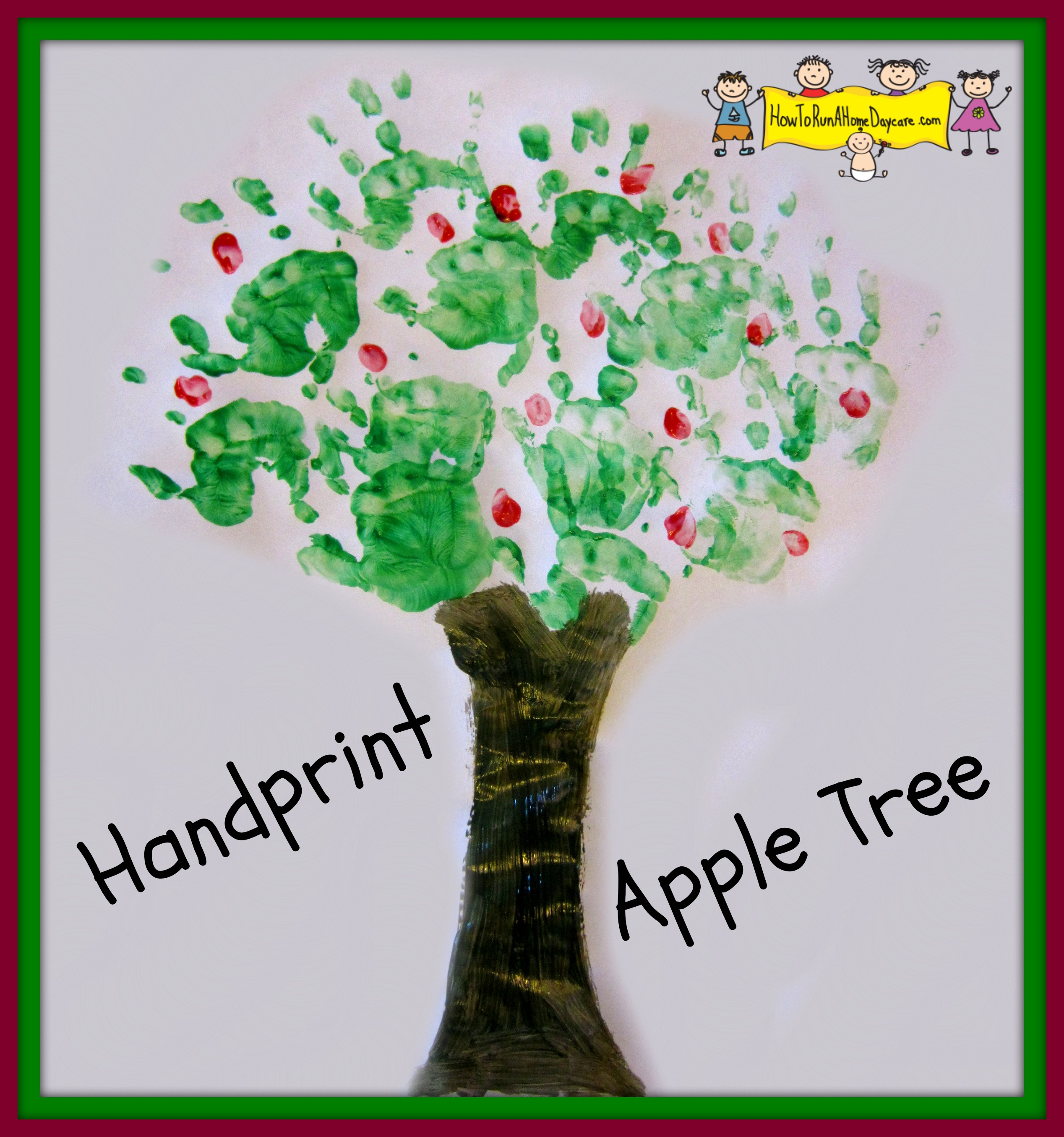 Handprint Apple Tree Painting How To Run A Home Daycare