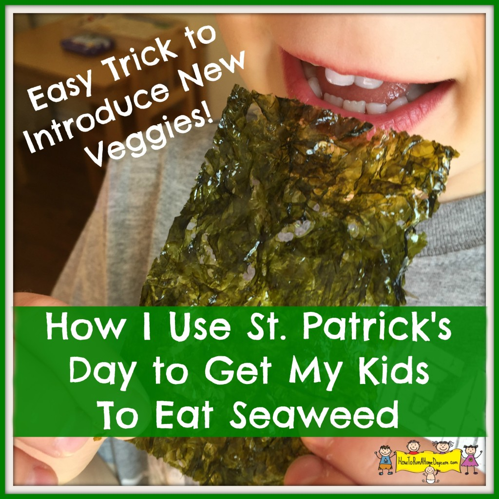 how I use st. Pat's day seaweed