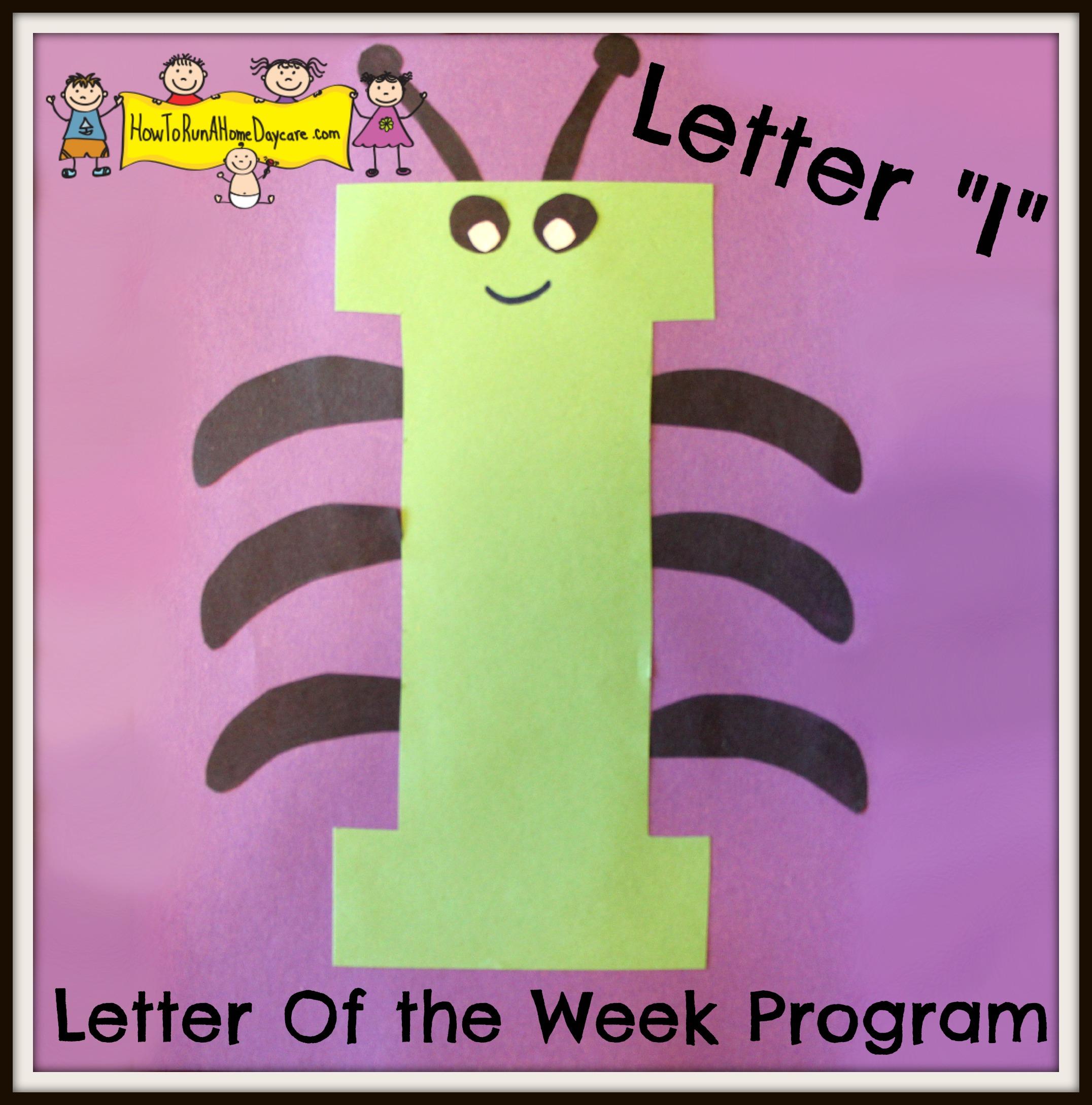 """Letter """"I"""" -Letter Of The Week Program"""