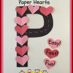 Letter Practice Using Paper Hearts   -Easy!  Fast Prep!  Fun!