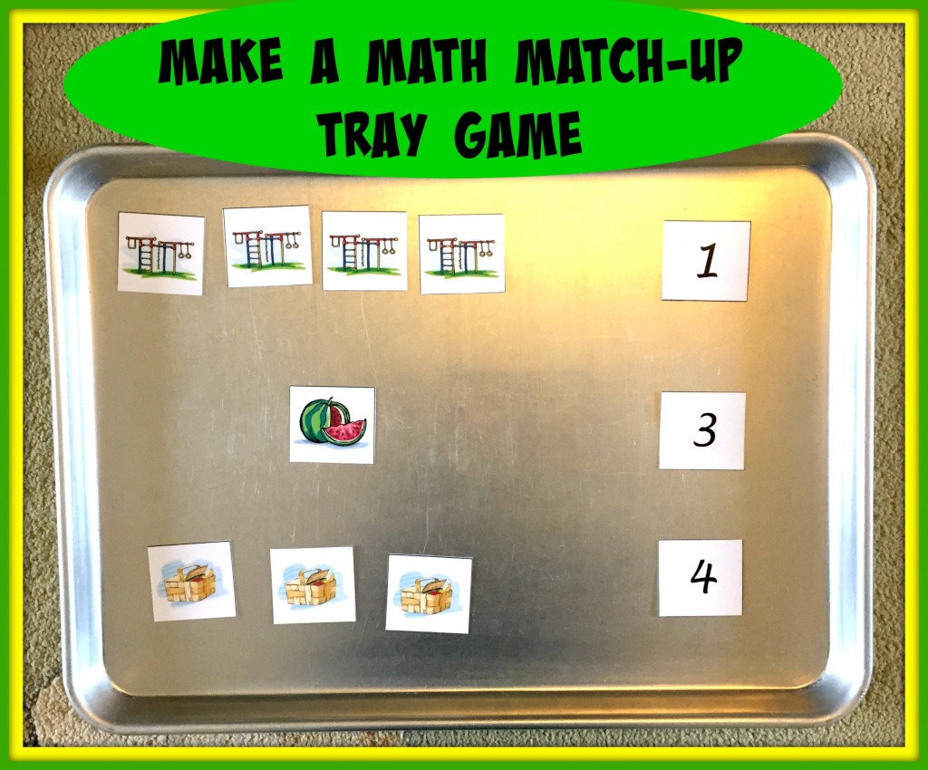 math match-up tray game