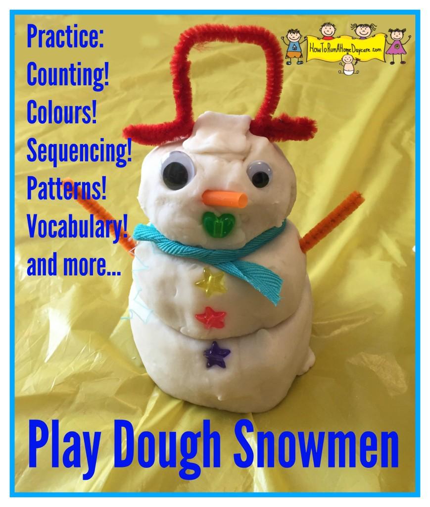 play dough snowmen