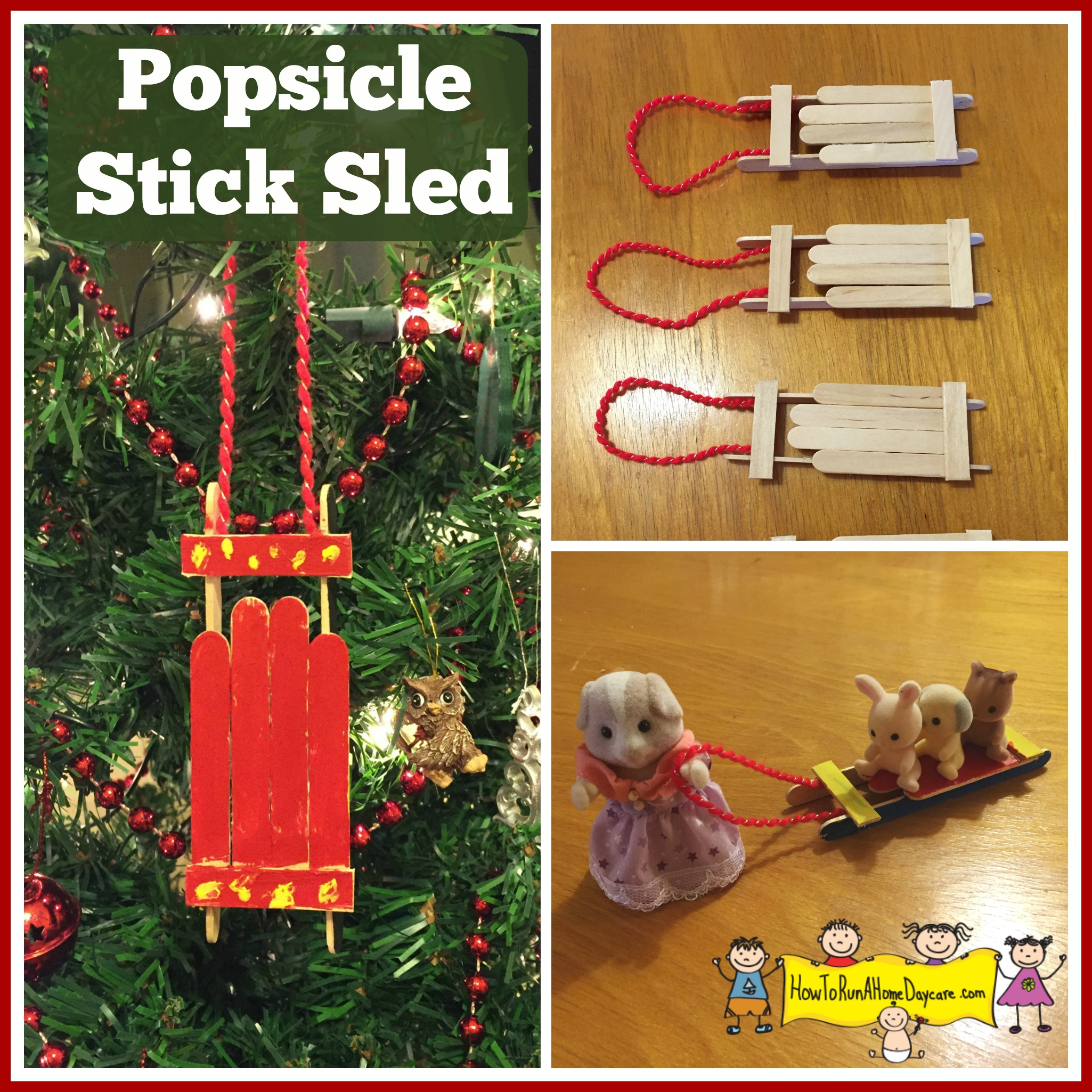 Popsicle Stick Sled How To Run A Home Daycare