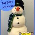 snowman felt board activities