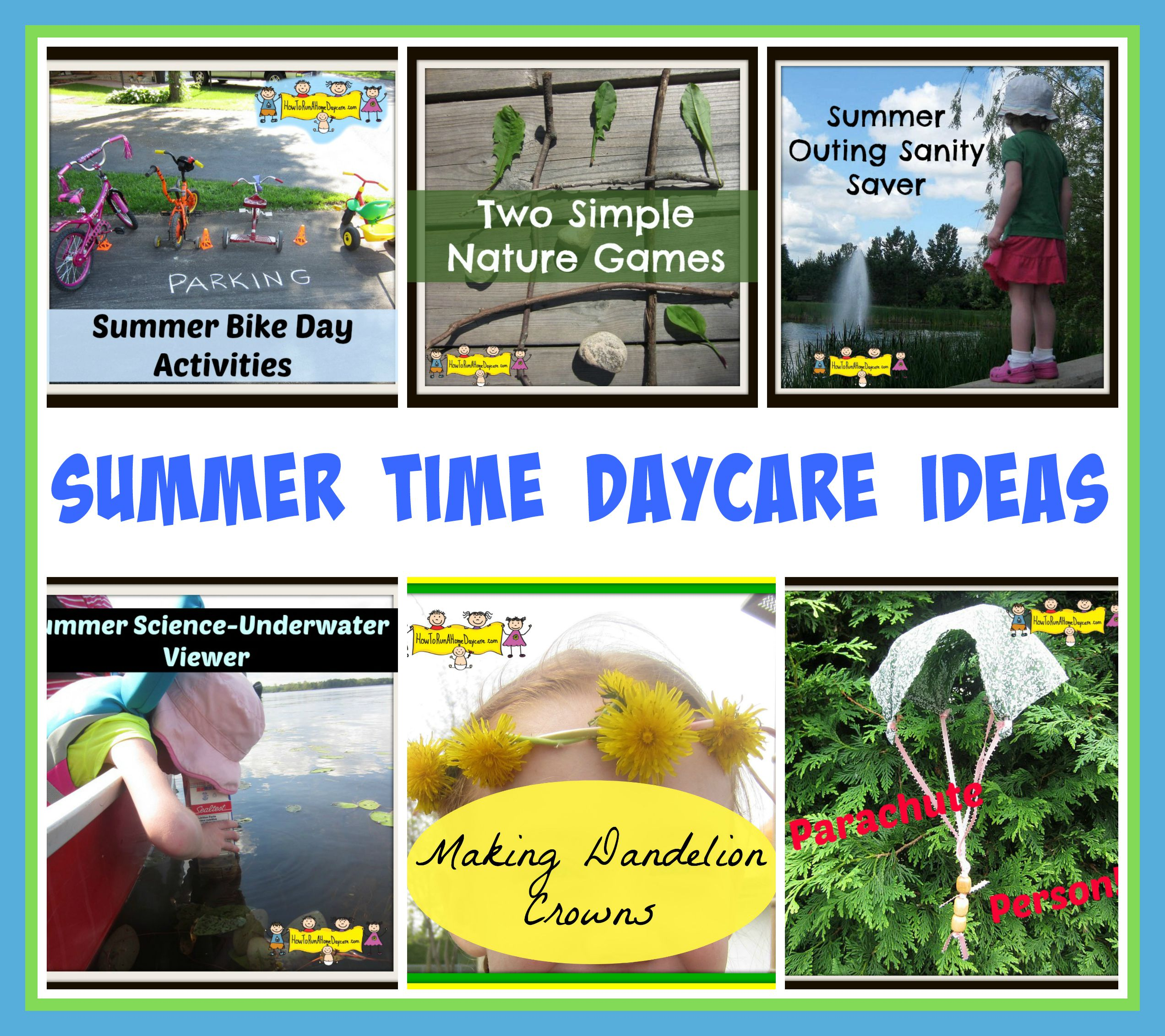Summer Time Daycare Ideas How To Run A Home Daycare