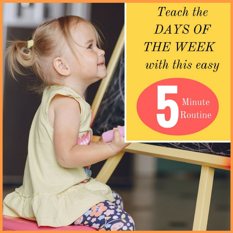 Teach The Days Of The Week With This Easy 5 Minute Routine How To Run A Home Daycare