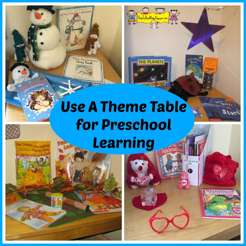 theme table for learning