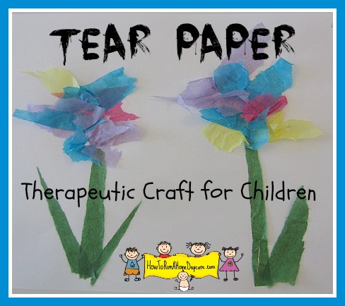 Tearing tissue paper a therapeutic craft for children how to run tissue paper flower craftg mightylinksfo