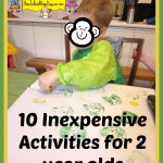 Ten Inexpensive Activities for Two Year Olds