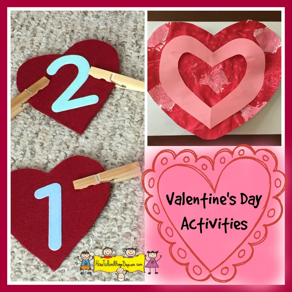 Valentine S Day Activities How To Run A Home Daycare