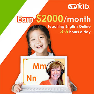 VIPKID - Earn $2000/month teaching English online 3-5 hours a day
